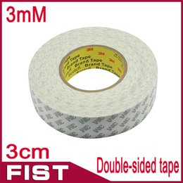 Wholesale Double Side Sticky Tape - Free shipping  lot 30mm*50M 3M Double Sided Adhesive Sticky Tape for LED Strip LCD Case