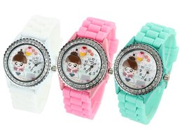 Wholesale Baby Dates - Baby Watch Hot Watch Baby Watch Fashion Student Sweet Cartoon Character Printing Watch Hot Children Candy Color Silicone Sport Watch