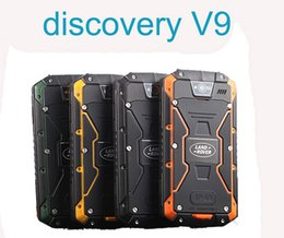Wholesale Discovery V5 Screen - Original Discovery V9 Android 4.4 MT6572 Dual Core Waterproof Smartphones 512MB+4GB 8MP 4.5 '' IPS 3G WCDMA GPS (V8 V5 ZUG3 H8)