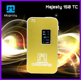 Wholesale F Rohs - Wholesale price temperature control box mod Majesty 150 watt mod box 200°F - 600°F tc box mod with ce rohs