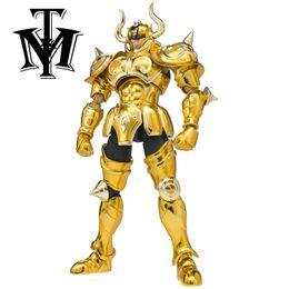 Wholesale Saint Seiya Metal - Metal Club MC Anime Saint Seiya S Temple ST Taurus Aldebaran MetalClub Ex Myth Cloth Metal Gold Action Figure Model Zodiaco gift
