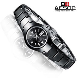 Wholesale Aesop Watches - Wholesale-Free shipping Aesop brand black ceramic watch waterproof fashion lady double ultra-thin calendar quartz leisure couple watches
