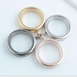 Wholesale Circular Gift Boxes - Floating lockets circular smooth environmental zinc alloy glass box DIY pendant