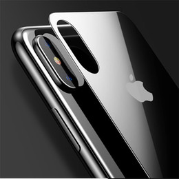 Wholesale Film X Blacks - 0.3mm Back Screen Protector For iPhone X 8 7 Plus Back Tempered Glass For iPhone X Full Protective Hardness Back Glass Film