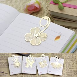 Wholesale Books Magazines Wholesale - 20PCS Free Shipping Hot Gold Metal Clip Bookmark Reading Magazine Paper Label Charms Book Mark Gift