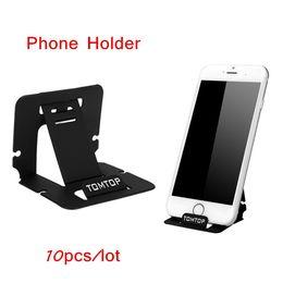 Portáteis Mini Suportes de Telefone Ajustáveis portáteis para iPhone Dobrável Suporte Do Telefone Móvel Suporte para Samsung HTC LG 10 pçs / lote de