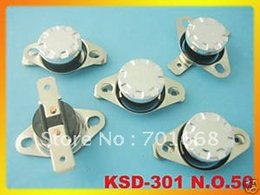 Wholesale Temperature Switch Thermostat Open - Wholesale-50 pcs KSD301 Temperature Control Switch Thermostat 50C 50 Degree N.O. Normal Open