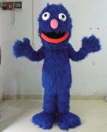 Wholesale Sesame Street Mascots - Hot Sesame Street Grover Blue Monster Outfit Mascot Costume Dress Suit ...