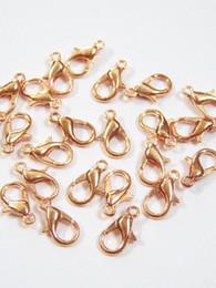 Aragoste online-Bulk Packs 200 Pcs Rose Gold Lobster Clasp Artiglio 12x6mm Forniture per gioielli in metallo - Spedizione gratuita