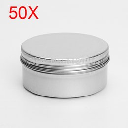 Wholesale Storage Tin Lid - 50pcs lot 15ml Empty Aluminium Cosmetic Pot Lip Balm Jar Tin Containers Screw Lid for Cream Ointment Hand Cream Storage order<$18no track