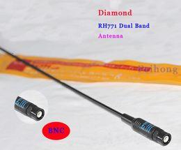 Wholesale Bnc Diamond Antenna - Wholesale-3pcs lot Diamond RH-771 BNC dual band antenna for IC- V8 IC-V82 IC-V85 IC-V80E two way radio