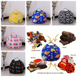 Wholesale 32 Doors - 32 Colors 45cm Kids Storage Bean Bags Plush Toys Beanbag Chair Bedroom Stuffed Room Mats Portable Clothes Storage Bag CCA8332 30pcs