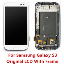 Canada Haute Qualité A + LCD Digitizer Écran Tactile Avec Cadre Pour Samsung Galaxy S3 i9300 T999 i747 i535 i9305 supplier lcd digitizer for samsung galaxy s3 Offre