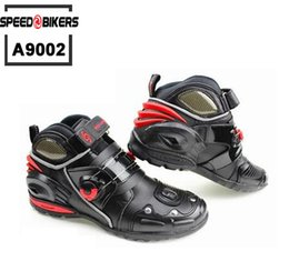 Wholesale Speed Bikers Racing Boots - Motorcycle Boots, SPEED Bikers Moto Racing Boots Motocross Motorbike Shoes A9002,high quality