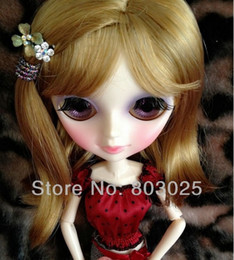 Wholesale Blythe Wig 12 - Free Shipping Long Flaxen Side Parting Wig 27cm for Blythe Dolls, Fashion BJD   SD Doll Hair Accessory