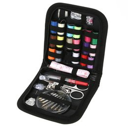 Wholesale Craft Travel - 70PCS Set Multifunction Sewing Box Sewing Thread Stitches Needles Tool Set Cloth Buttons Craft Scissor Travel Sewing Kit Case