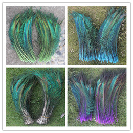 Wholesale Peacock Feather Wedding Decorations - Wholesale Price! 50pcs lot Sword Peacock On both sides Feather vase decoration DIY wedding decoation festival supplies craft feather