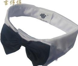 Wholesale White Dog Bow Tie - Creative England gentleman tie cotton multicolor tie pet dog supplies