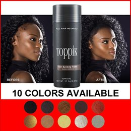 Wholesale toppik hair building fibers for men and women grams bottle black blond brown hair loss concealer in stock