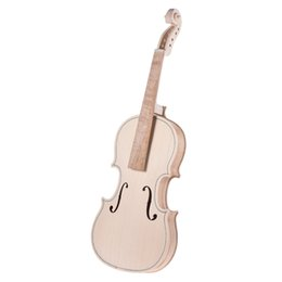 Wholesale Fingerboard Woods - Wholesale- DIY 1 8 Size Natural Solid Wood Violin Fiddle Kit Spruce Top Maple Back Neck Fingerboard
