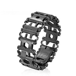 Wholesale Gear Equipment - Leatherman Tread Bracelet Travel Friendly Wearable Multitool Creative Fashion Bracelet Wearing Equipment Outdoor EDC Tools Xmas Gift