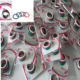 Wholesale Ejaculation Penis - Rainbow Sex Toys Man Penis Rings Cock Ring Delayed ejaculation Adult Products Casing Delay Lock Loops Cockrings 5pcs Per Set A36