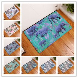 Wholesale Animal Print Mat - Kitchen Rug Non Slip 3D Elephant Printing Bath Mats Water Uptake For Lovely Animal Footcloth Many Styles 9 8xrd C