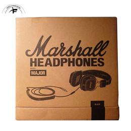 Wholesale Brown Monitor - Marshall Major headphones With Mic Deep Bass DJ Hi-Fi Headphone HiFi Headset Professional DJ Monitor Headphone