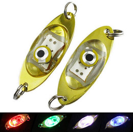 Wholesale Deep Fishing Lures - 6cm LED Flash Deep Drop Underwater Eye Shape Fishing Squid Fish Lure Light Fishing Accessories OOA3579