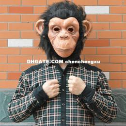 Wholesale Halloween Gorilla Mask - Protagonist COSPLAY Halloween Mask Material Latex gorilla mask animal masks big mouth monkey PARTY dance BAR COOL
