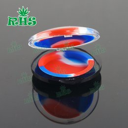 Wholesale Novelty Makeup - Novelty Makeup Mirror Jar Wax Vaporizer Oil Containers Non-stick Silicone Jars Dab Concentrate Container Small Multi-Colors for Choice