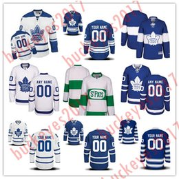 Зимний классический трикотаж с листьями онлайн-Пользовательские Торонто Maple Leafs сшитые мужские женские молодежные белый зеленый Главная Royal Blue 2017 столетие зима классический третий хоккей трикотажные изделия S-4XL