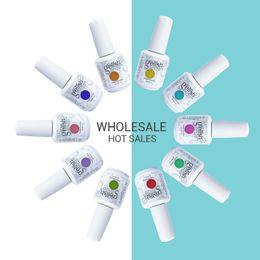 Wholesale Tipped Extensions - Harmony Gelish 105 Pcs Nail Polish Soak Off UV Gel Polish Solid UV Gel Nail Art Tips Design Extension Nails DIY Sets Gel Nail Polish
