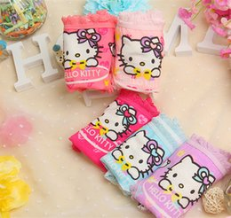 Wholesale Cute Sweet Heart - Baby Girls Underwear Cotton Hello Kitty Cartoon Printing Cute Sweet Lace Soft Breathable Basic Briefs Kids Heart Summer Hot Babies Clothing