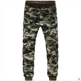 Wholesale Boys Elastic Waist Jeans - Camouflage Jogger jogging Pants Men Cuffed Twill Casual Hip Hop Camo Pants Hiphop Harem Pants Jeans Trousers Pantalones Male Boy free shippi