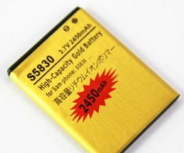 Wholesale High Capacity Battery Galaxy Ace - Excellent Quality High Capacity 2450mah Gold replacement Battery for Samsung Galaxy Ace S5830 for samsung S5830 Epacket Free