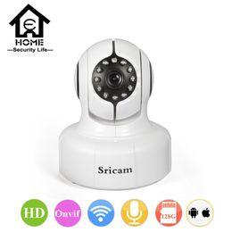 macchina fotografica sricam Sconti Telecamera di sicurezza Sricam 720P IP Mini P2P WiFi Smart Camera Family Defender Telecamera IP Indoor IP di rete per iPhone Android