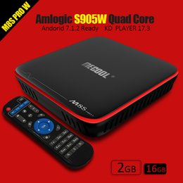 Wholesale Streaming Boxes - Mecool M8S Pro 2GB 16GB Android 7.1 TV Box Amlogic S905W Quad Core STB tv boxes fully loaded KD17.3 4K streaming player bet mag
