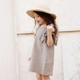 Wholesale Wholesale Kids Polka Tutu Dress - Big Kids Girls Polka Dots Ruffles Dresses 2015 Baby Girl Summer Cotton Dress Children's Korean Style Princess Clothing