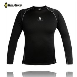 Wholesale Mens Size 3xl Underwear - High Quality men winter thermal underwear fleece thick mens thermal underwear Tops Plus size 3XL Black tight Sportwear Brand Jogging Skiing