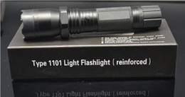 Wholesale Portable Camp Light Led - Hot Sale New 1101 Type Edc Linternas Light Cree Led Tactical Flashlight Lanterna Self defense Torch 18650(built-in) Free Shipping