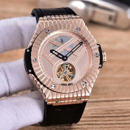 Wholesale Automatic Machine Products - 2018 top luxury brand AAA rose gold men watch flywheel design automatic machine Swiss brand 45mm hot new products listed