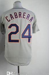 Wholesale Cheap Authentic Cool Base Jersey - Wholesale Baseball Jerseys Detroit #24 Miguel Cabrera Grey Road Jersey Authentic Cheap Baseball Cool base Jerseys