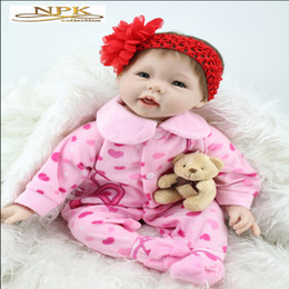"Wholesale Baby Girl Pacifiers - 22"" High Quality Silicone Adora Lifelike Bonecas Baby Reborn Realistic Magnetic Pacifier Bebe Bjd Doll Reborn For Girl Gift"