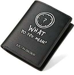 Wholesale american meaning - What do you mean wallet Justin Bieber purse JBiebs short long leather cash note case Money notecase Loose change burse bag Card holders