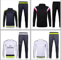 Wholesale Soccer Tracksuit Free Shipping - HOT!!! Warranty training suit 2016 Survetement Football tracksuit long sleeve Soccer Jerseys thailand quality free shipping