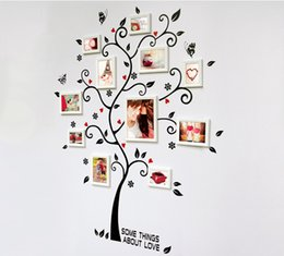 Wholesale Wallpapers Trees - Room Photo Frame Decoration Family Tree Wall Decal Sticker Poster on a Wall Stickers Tree Wallpaper Kids Photoframe Art