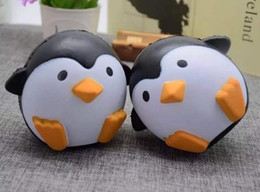 Wholesale Gift Cute Dolls - 2017 New Arrival Jumbo Squishy Penguin Kawaii Cute Animal Slow Rising Sweet Scented Vent Charms Bread Cake Kid Toy Doll Gift Fun