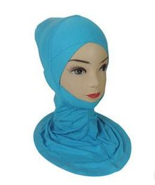 Wholesale Muslim Hijab Headscarf - Wholesale-Muslim Hijab Headscarf Underscarf Inner Caps Bonnet Modal Colors Mix Order New Arrival 12PCS Lot Free Shipping 160301B11