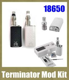 kits de arranque terminador Rebajas Cigarrillos electrónicos Mods mecánicos Kits 18650 Terminator de la batería Mod Kit de inicio con botella reconstruible RDA atomizador TZ482